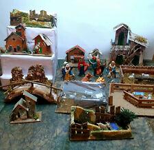 Nativity scene. Statuettes houses environments, Nativity items