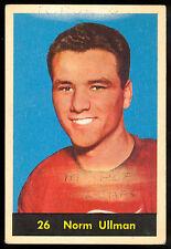 1960 61 PARKHURST HOCKEY #26 NORM ULLMAN VG-EX DETROIT RED WINGS HOF CARD