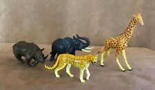 3D puzzle figures Animals lot giraffe elephant hippo leopard action figurines
