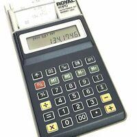Vintage Royal 4HPD Vintage Mini Printing Calculator With Paper, Case, Box WORKS