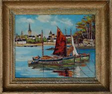 Wandbild/Rahmen - Helene Lafolye 2 Frankreich Impressionist Seefahrt & Schiffe x