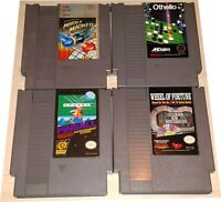 Lot 4 Vintage Games Nintendo NES Othello Pinball Marble Madness Wheel of Fortune