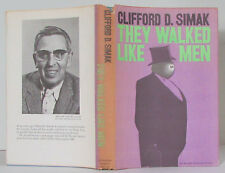 Clifford D. Simak THEY WALKED LIKE MEN vintage 1963 SF hardcover in DJ HC Satire