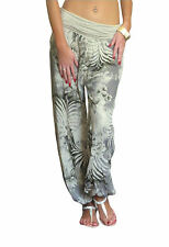 Ladies Harem Pants Womens Trousers Ali Baba Baggy Boho Hareem Size 8 10 12 14