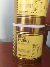 2 Cans of Nitro-pak Freeze Dried Food Apple Slices