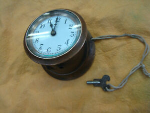 VINTAGE DASHBOARD CLOCK BRASS MODEL T AUBURN CADILLAC FRANKLIN HUPMOBILE OAKLAND