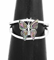 Artisan Abalone Butterfly Cuff Bracelet from Taxco Mexico