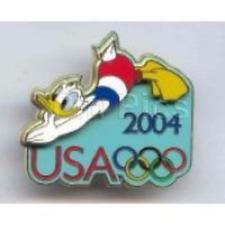 Disney Pin 32148 Donald Duck Diving USA Rings Olympics 2004 Cast Member LE *