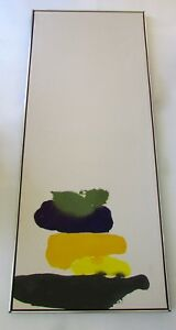 MidCentury XLarge Abstract Expressionist/Color Field Painting David Moy 1970