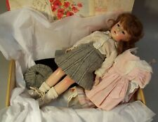 Lovely Vintage 14 inch Hard Plastic Doll, Made in USA + Outfits & Display Box