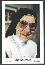 estampa antigua Sor Orsola Benincasa andachtsbild santino holy card santini