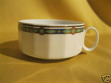 Teetasse Rosenthal studio linie Polygon Schmuck-Rand mint-grün blau gold orange