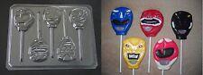 Power Ranger Faces Lollipop Chocolate Candy Soap Crayon  Mold