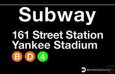 Yankee Stadium  New York City Subway Station Sign Metal