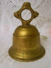 Vintage OLD INDIA Solid BRASS BELL UNIQUE VERY NICE COLLECTIBLE