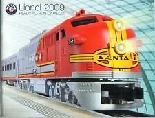 LIONEL 2009 TRAIN CATALOG Ready-To-Run Book El Capitan Santa Fe Diesel Cover NEW