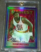 1995-96 TOPPS FINEST REFRACTOR KARL MALONE JAZZ SHARP