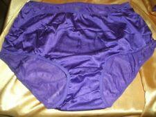 Umwerfendes Glanz Nylon Höschen XXXL LILA Slip Nylonslip Schlüpfer Panty  (B574)