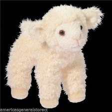 "LITTLE BIT 5.5""  LAMB stuffed plush animal toy white Douglas"