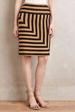 Anthropologie NWT Eva Franco Textured Striped Angler Pencil Skirt M 8 10 $128
