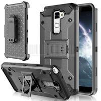 Armor Shockproof Hybrid Hard Rugged KickStand Belt Clip Phone Case Cover&Holster