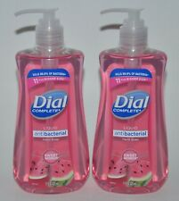 LOT OF 2 DIAL COMPLETE SWEET WATERMELON LIQUID HAND SOAP WASH 11OZ PUMP ANTI BAC
