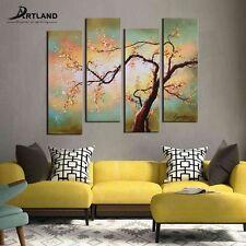 ARTLAND Modern Flower Oil Painting Hand-painted Framed Wall Art 'Cherry Blossom'