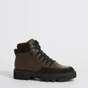 All Saints Men's Leather Lodge Boots in Brown