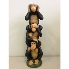 Monkeys See Hear Speak No Evil Figurine Sculpture Home Garden Decor 35cm