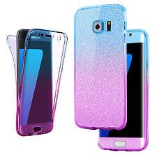Funda Carcasa Ultra delgada TPU Gel piel funda de 360 para Samsung Galaxy S8 S6 Edge
