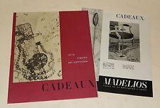 Catalogue AUX TROIS QUARTIERS Cadeaux Vintage 60' Mobilier - Jouets + MADELIOS