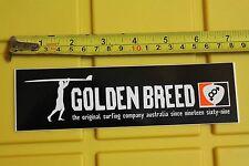 Golden Breed Surf Co. AUS Surfboards Australia AUS Vintage Surfing Decal STICKER