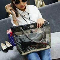 Women Bag Transparent Tote Bags Shoulder Handbag Purse Lady Beach Jelly Handbags