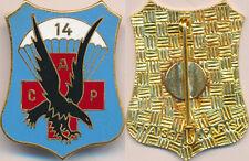 14° Antenne Chirurgicale Parachutiste, avec sigle, dos guilloché, Fraisse (7319)