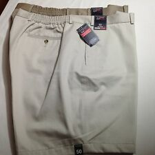 Roundtree &Yorke Men Travel Smart Shorts Flat 50 Cream/Khaki $92 Lot of 2