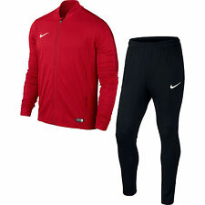 Boys Nike Football Sports Full Tracksuit Kids Junior Zip Bottoms Top XL Age 13-15 Red