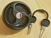 Black Lockable Water Tank Filler Cap with Keys - ES2150  -  Caravan /  Motorhome