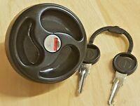 Black Lockable Water Tank Filler Cap with Keys - ES2150  -  Caravan /  Motorhome