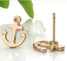 Gold Plated Delicate Anchor Sailor Earrings Unisex Fashion Jewellery