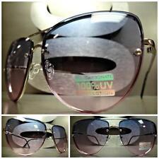 Women's CLASSIC RETRO VINTAGE Style SUN GLASSES SHADES Purple & Pink Ombre Lens