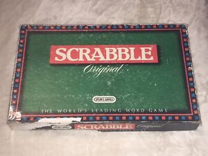 "BOXED "" SCRABBLE ORIGINAL "" BOARDGAME WORD GAME"