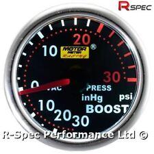 * liquidación * 52 Mm Ahumado Súper Blanca Turbo Boost Manómetro Kit-PSI