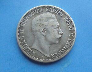 Germany, Prussia, Twei Two Marks 1907 A, Wilhelm II, Silver, as shown.