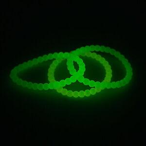 Glow-In-The-Dark Beaded Bracelets - Jewelry - 12 Pieces
