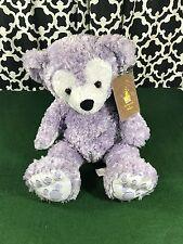 """Disney Hidden Mickey Pre-Duffy 17"""" Lavender Purple Plush Teddy Bear - NWT"""