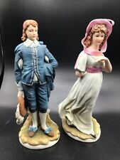 Beautiful Lefton Old Master Series Blue Boy and Pinkie Kw2824 Bisque Figurines