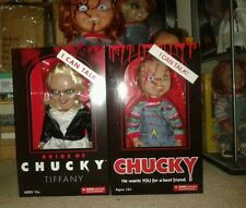 "15"" Mezco ""Bride of Chucky"" Talking Tiffany and Chucky Doll**NEW**"