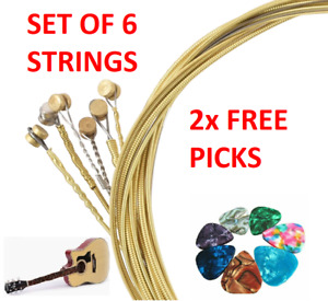 6 Strings Light Steel Project Music Guitar Acoustic With 2 FREE Picks Universal
