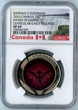 2016 CANADA NGC EARLY RELEASES SP69 DAWN OF JUSTICE BATMAN VS SUPERMAN 25C!