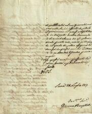 Lettera Autografo Filosofo Giacomo Barzellotti Senatore Regno Italia Siena 1817